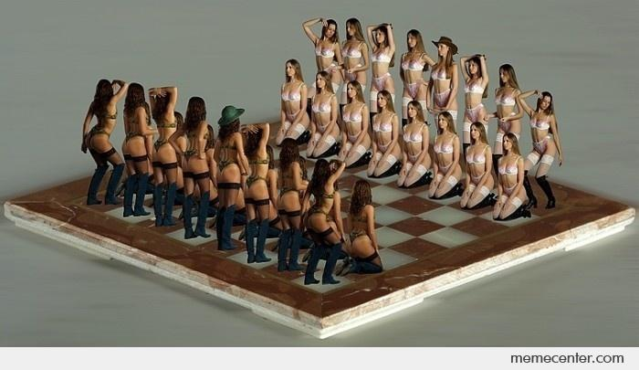 Girl may lose at chess for showing too much…. chest!!.